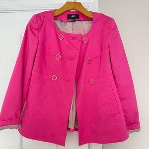 H&M size 4 small blazer jacket hot pink